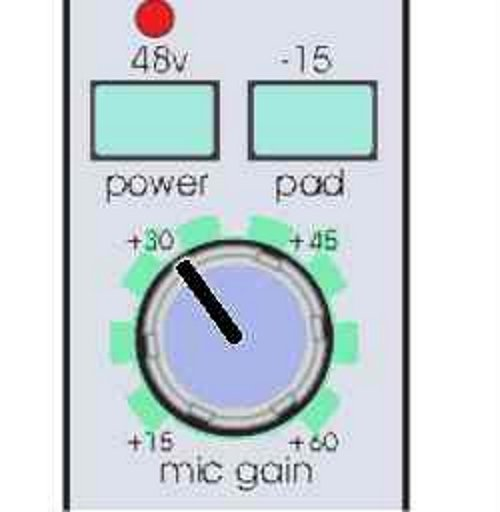 """Live sound system advise: Setting up a mixing desk input channel, The """"Gain control"""""""
